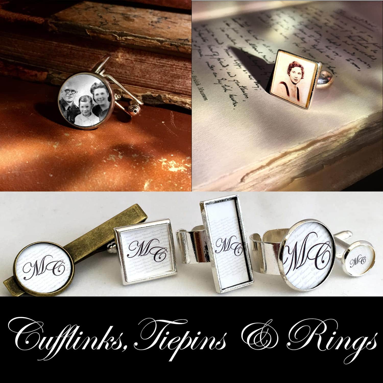 Cufflinks, Tiepins and Rings